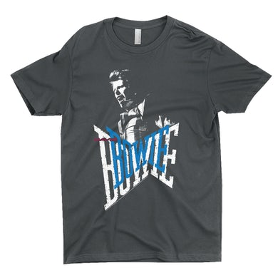 David Bowie T-Shirt | Bowie On Stage Logo Design David Bowie Shirt