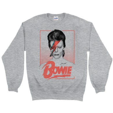 David Bowie Sweatshirt | Aladdin Sane Bowie Red Image David Bowie Sweatshirt