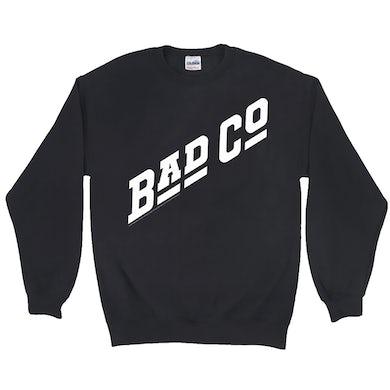 Bad Company Sweatshirt   Classic Bad Company Logo White Bad Company Sweatshirt