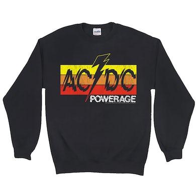 AC/DC Sweatshirt   Powerage Logo Banner ACDC Sweatshirt