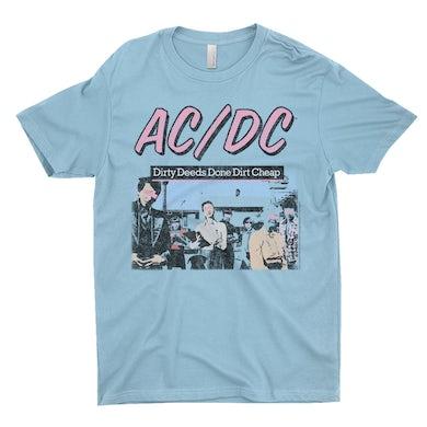 AC/DC T-Shirt | Dirty Deeds Done Dirt Cheap Pink Design Distressed ACDC Shirt