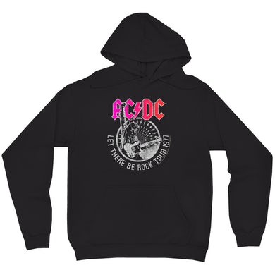 AC/DC Hoodie   Let There Be Rock Tour 1977 Silver Bling Design ACDC Hoodie
