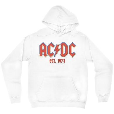 ACDC Hoodie | AC/DC Est. 1973 Pastel Logo ACDC Hoodie