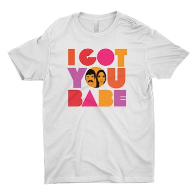 Sonny And Cher T-Shirt | I Got You Babe Bright Logo Image Sonny And Cher Shirt