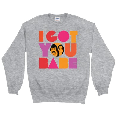 Sonny And Cher Sweatshirt | I Got You Babe Bright Logo Image Sonny And Cher Sweatshirt