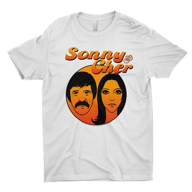 Sonny And Cher T-Shirt | Comedy Hour Illustration And Logo Ombre Sonny And Cher Shirt