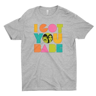 Sonny And Cher T-Shirt | I Got You Babe Pastel Logo Distressed Sonny And Cher Shirt