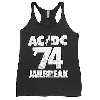 AC/DC Ladies' Tank Top   Jailbreak 1974 ACDC Shirt