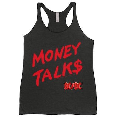 AC/DC Ladies' Tank Top   Money Talks Spray Paint Image ACDC Shirt
