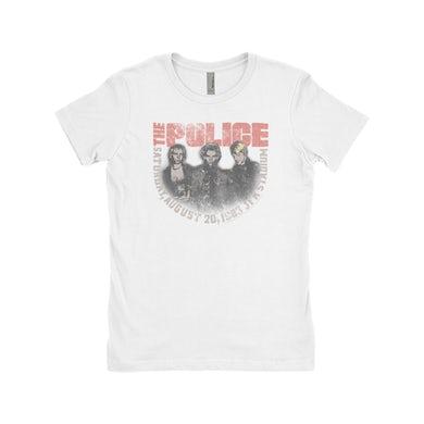 The Police Ladies' Boyfriend T-Shirt | JFK Statium 1983 Concert Distressed The Police Shirt