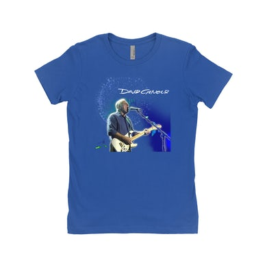 David Gilmour Ladies' Boyfriend T-Shirt   David Gilmour Singing Design David Gilmour Shirt
