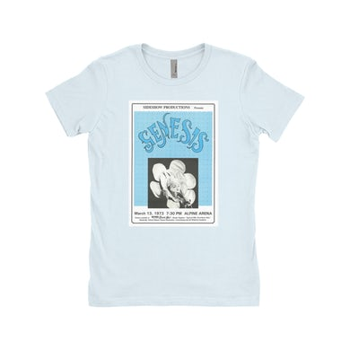 Genesis Ladies' Boyfriend T-Shirt | Genesis And Lou Reed Concert Poster Genesis Shirt