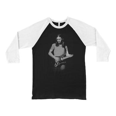 David Gilmour 3/4 Sleeve Baseball Tee   Young David Gilmour Playing Guitar David Gilmour Shirt