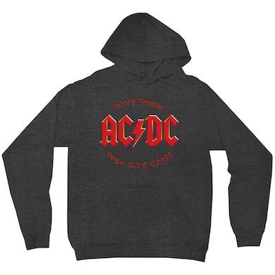 AC/DC Hoodie | Dirty Deeds Done Dirt Cheap Script Design ACDC Hoodie