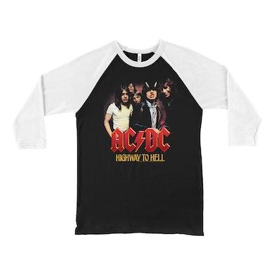 AC/DC 3/4 Sleeve Baseball Tee | Highway To Hell Album Cover Art ACDC Shirt