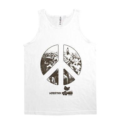 Woodstock Unisex Tank Top | Crowd Photo Peace Sign Woodstock Shirt