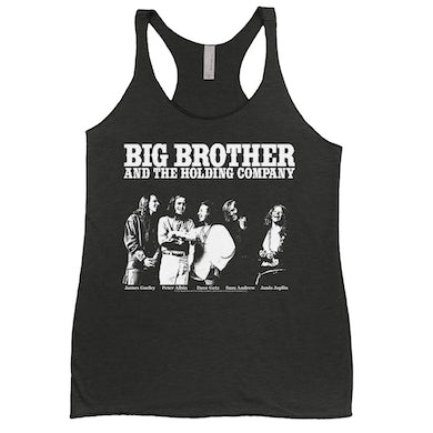 Big Brother And The Holding Company Big Brother and The Holding Co. Ladies' Tank Top | Featuring Janis Joplin Black and White Photo Big Brother and The Holding Co. Shirt