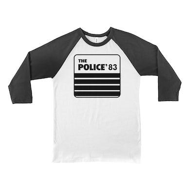 The Police 3/4 Sleeve Baseball Tee | The Police 1983 Concert Tour The Police Shirt