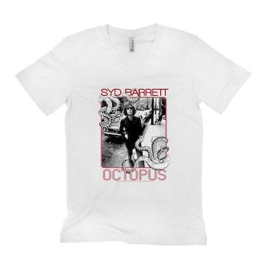Syd Barrett Unisex V-neck T-Shirt | Octopus Design Syd Barrett Shirt