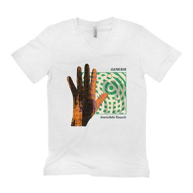 Genesis Unisex V-neck T-Shirt | Invisible Touch Album Cover Genesis Shirt