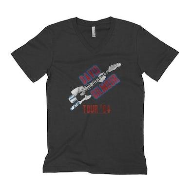 David Gilmour Unisex V-neck T-Shirt   David Gilmour 1984 Tour David Gilmour Shirt