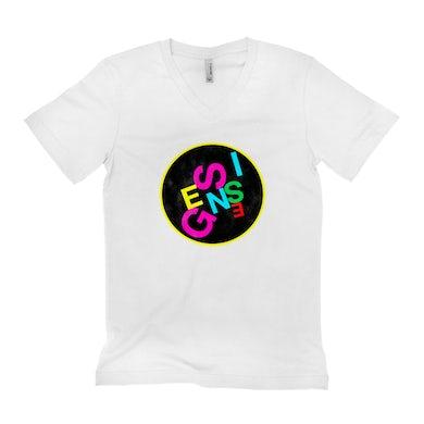 Genesis Unisex V-neck T-Shirt | Genesis Logo Neon Genesis Shirt