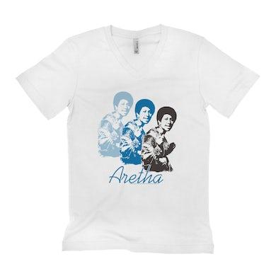 Aretha Retro Blue Design Shirt