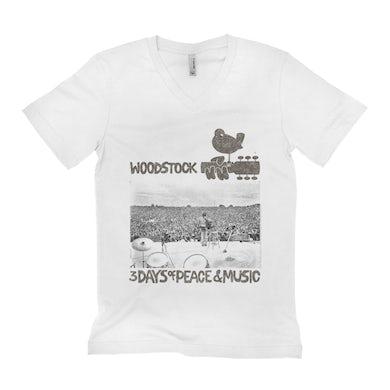 Woodstock Unisex V-neck T-Shirt | On Stage At Woodstock Woodstock Shirt