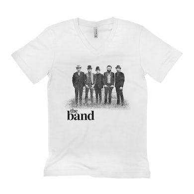 The Band Unisex V-neck T-Shirt | The Band Group Photo The Band Shirt