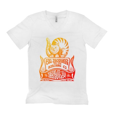 Big Brother and The Holding Co. Unisex V-neck T-Shirt | Big Brother And The Holding Company The Matrix Concert Psychedelic Big Brother and The Holding Co. Shirt