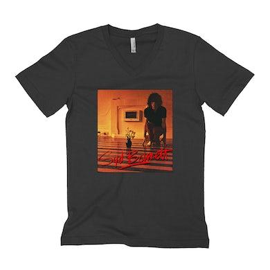 Syd Barrett Unisex V-neck T-Shirt | The Madcap Laughs Album Cover Syd Barrett Shirt (Merchbar Exclusive)