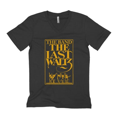 The Band Unisex V-neck T-Shirt | The Last Waltz Concert Poster The Band Shirt
