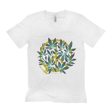 Woodstock Unisex V-neck T-Shirt | Peace Plant Woodstock Shirt