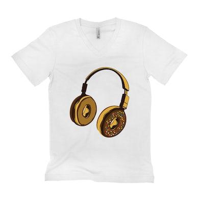 Merchbar Music Life Unisex V-neck T-Shirt   Delicious Donut Beats Merchbar Music Life Shirt