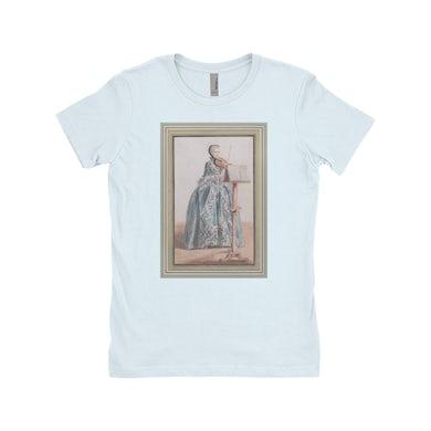 Merchbar Museum Series Ladies' Boyfriend T-Shirt | Woman Playing the Violin Merchbar Museum Series Shirt