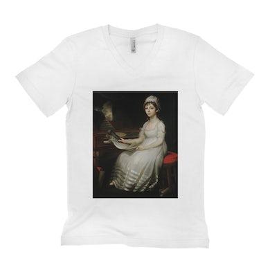 Merchbar Museum Series Unisex V-neck T-Shirt | Portrait of a Young Woman Merchbar Museum Series Shirt