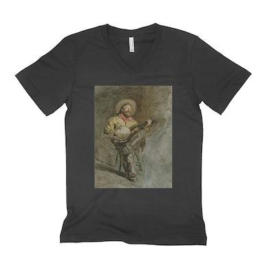 Merchbar Museum Series Unisex V-neck T-Shirt | Cowboy Singing Merchbar Museum Series Shirt