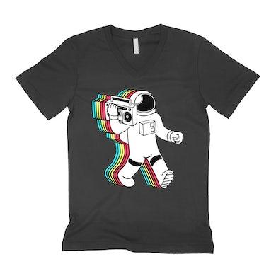 Merchbar Music Life Unisex V-neck T-Shirt   Astro Booming Merchbar Music Life Shirt