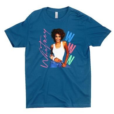 Whitney Houston T-Shirt | Whitney Pastel W Design Whitney Houston Shirt