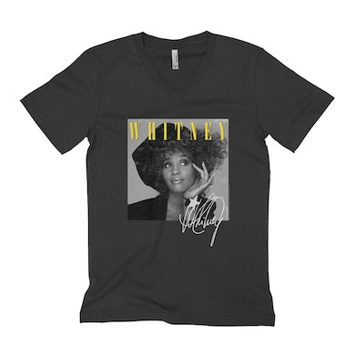 Whitney Black And White Star Photo With Logo Distressed Shirt