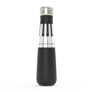 Merchbar Music Life Water Bottle   Piano Keys Merchbar Music Life Water Bottle