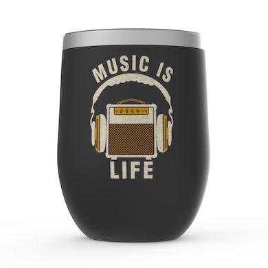Merchbar Music Life Wine Tumbler   Music Amps Life Merchbar Music Life Stemless Wine Tumbler