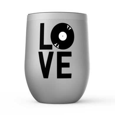 Merchbar Music Life Wine Tumbler   Love Is Vinyl Merchbar Music Life Stemless Wine Tumbler