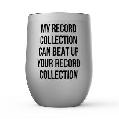 Merchbar Music Life Wine Tumbler   Record Collection Bully Merchbar Music Life Stemless Wine Tumbler