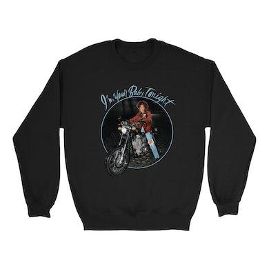 Whitney Houston Sweatshirt | I'm Your Baby Tonight Album Photo Design Distressed Whitney Houston Sweatshirt