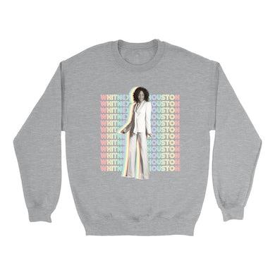 Whitney Houston Sweatshirt | Nothing But Love Pastel Rainbow Album Photo Image Whitney Houston Sweatshirt
