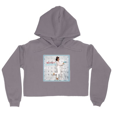 Whitney The Greatest Hits Album Cover Crop Hoodie
