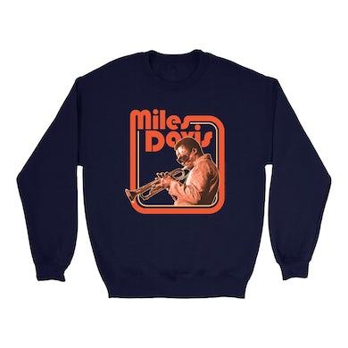 Miles Davis Sweatshirt | Young Miles Retro Image Miles Davis Sweatshirt