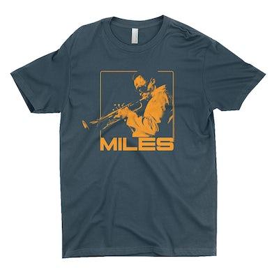 Miles Davis T-Shirt | Miles Playing Trumpet Orange Design Miles Davis Shirt