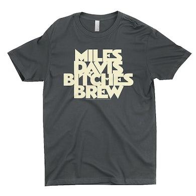Miles Davis T-Shirt | Bitches Brew White Logo Miles Davis Shirt